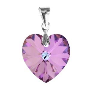 Swarovski kristály medál -14mm-es AB-s szív több színben , Ékszer, Medál, Nyaklánc, Ékszerkészítés, Gyöngyfűzés, gyöngyhímzés, Meska