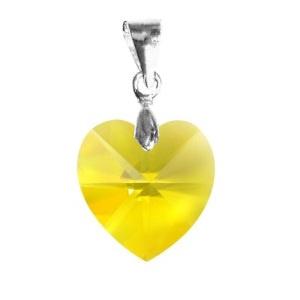 Ékszerek-medálok: Swarovski kristály medál -14mm-es szív több színben - ékszer - nyaklánc - medál - Meska.hu