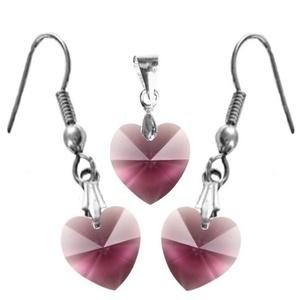 Swarovski kristály 10-10 mm-es szív szett több színben, Ékszer, Fülbevaló, Nyaklánc, Szerelmeseknek, Ünnepi dekoráció, Dekoráció, Otthon & lakás, Ékszerkészítés, Gyöngyfűzés, gyöngyhímzés, Swarovski kristály  10-10 mm-es szív alakú   fülbevaló és medál több színben \n\n\nA méreteket a másodi..., Meska