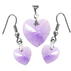 Swarovski kristály 10-18 mm-es szív szett több színben (gyongyvilag) - Meska.hu