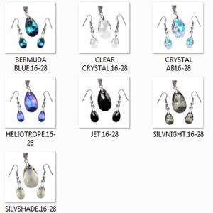 Swarovski kristály 16-28 mm-es csepp szett több színben - ékszer - ékszerszett - Meska.hu