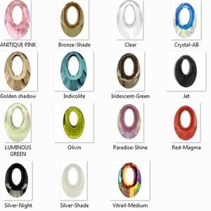Swarovski kristály nyaklánc -20mm-es helios több színben - ékszer - nyaklánc - medálos nyaklánc - Meska.hu
