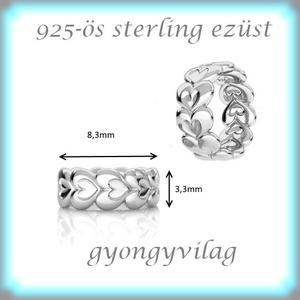 925-ös ezüst köztes / gyöngy / dísz EKÖ 78 - gyöngy, ékszerkellék - fém köztesek - Meska.hu