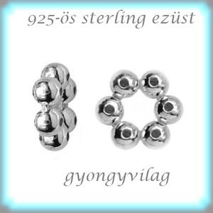 925-ös ezüst köztes / gyöngy / dísz EKÖ 79, Gyöngy, ékszerkellék, Fém köztesek, Ékszerkészítés, Mindenmás, Szerelékek, EKÖ 79\n \n925-ös valódi  ezüst (bevizsgált) köztes / gyöngy / díszitőelem .\n\n\n\n1 db / csomag\n\n\n\nAz ez..., Meska