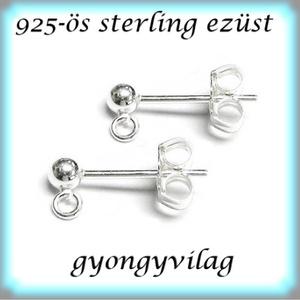 925-ös ezüst fülbevaló kapocs EFK B 01-3 - Meska.hu