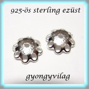 925-ös sterling ezüst gyöngykupak  1db/ csomag  EGYK 34 (gyongyvilag) - Meska.hu