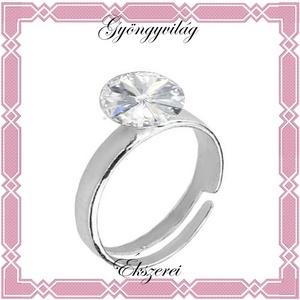 925-ös sterling ezüst, bevizsgált gyűrű EGY 01-8, Ékszer, Szoliter gyűrű, Gyűrű, Ékszerkészítés, Gyöngyfűzés, gyöngyhímzés, Meska