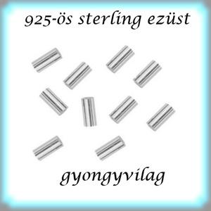 925-ös ezüst köztes / gyöngy / dísz EKÖ 19 1,5x2, Gyöngy, ékszerkellék, Fém köztesek, Ékszerkészítés, Mindenmás, Szerelékek, EKÖ 19 1,5 x 2\n \n925-ös valódi  ezüst (bevizsgált) köztes / gyöngy / díszitőelem .\n\n\n\n10 db / csomag..., Meska