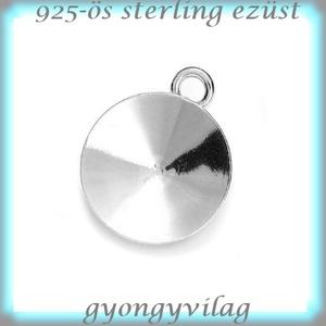 925-ös finomságú sterling ezüst kandeláber/ továbbépíthető köztes /tartó elem 10mm-es rivolihoz   EKA 60 - Meska.hu