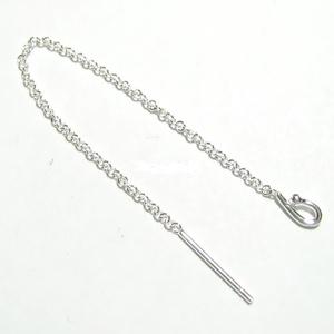 925-ös ezüst fülbevaló kapocs , füllánc EFK BFL 26-95e, Gyöngy, ékszerkellék, Egyéb alkatrész, Ékszerkészítés, Mindenmás, Szerelékek, EFK BFL 26-95e --- 925-ös fémjellel ellátott valódi ezüst (bevizsgált) bedugós fülbevalóalap.  1 pá..., Alkotók boltja