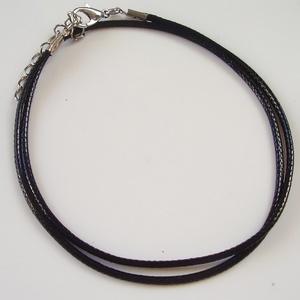 Fényezett bőr  nyaklánc BÜL08-44 - gyöngy, ékszerkellék - egyéb alkatrész - Meska.hu
