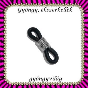 Szemüvegtartó gumi gyűrű 10db  BEK 01, Gyöngy, ékszerkellék, Egyéb alkatrész, Ékszerkészítés, Mindenmás, Szerelékek, Szemüvegtartó gumi gyűrű.  5pár (10db) /  csomag, Alkotók boltja
