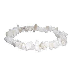 Ásvány chips karkötő ÁSK12-white opal, Ékszer, Bogyós karkötő, Karkötő, Ékszerkészítés, Gyöngyfűzés, gyöngyhímzés, Meska