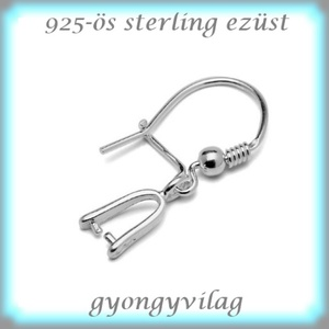 925-ös ezüst fülbevaló kapocs biztonsági kapoccsal EFK K 29, Gyöngy, ékszerkellék, Egyéb alkatrész, Ékszerkészítés, Mindenmás, Szerelékek, EFK K 29\n---\n925-ös fémjellel ellátott valódi ezüst (bevizsgált)fülbevalóalap, biztonsági kapoccsal...., Meska