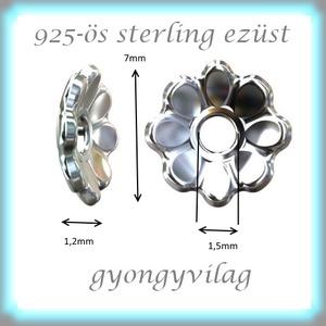 925-ös sterling ezüst gyöngykupak  1db/ csomag  EGYK 35 - gyöngy, ékszerkellék - fém köztesek - Meska.hu
