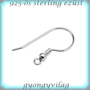 925-ös finomságú sterling ezüst fülbevaló kapocs EFK A 10-3, Gyöngy, ékszerkellék, Egyéb alkatrész, Ékszerkészítés, Mindenmás, Szerelékek, EFK A 10-3\n---\n925-ös fémjellel ellátott valódi ezüst (bevizsgált) beakasztós fülbevalóalap.\n\n1 pár\n..., Meska