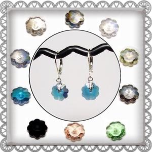 Cseh kristály margaréta fülbevaló több színben  SFEB-16-2, Ékszer, Lógó fülbevaló, Fülbevaló, Ékszerkészítés, Gyöngyfűzés, gyöngyhímzés, Meska