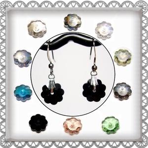Cseh kristály margaréta fülbevaló több színben  SFEB-16-3, Ékszer, Lógó fülbevaló, Fülbevaló, Ékszerkészítés, Gyöngyfűzés, gyöngyhímzés, Meska