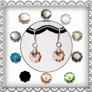 Cseh kristály margaréta szilikon fülbevaló több színben  SFEB-16-4, Ékszer, Lógó fülbevaló, Fülbevaló, Ékszerkészítés, Gyöngyfűzés, gyöngyhímzés, Meska