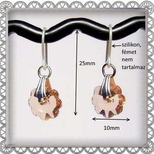 Cseh kristály margaréta szilikon fülbevaló több színben  SFEB-16-4 - Meska.hu