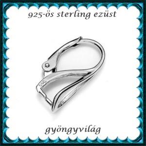 925-ös sterling ezüst ékszerkellék: fülbevalóalap biztonsági kapoccsal EFK K 16 - gyöngy, ékszerkellék - egyéb alkatrész - Meska.hu