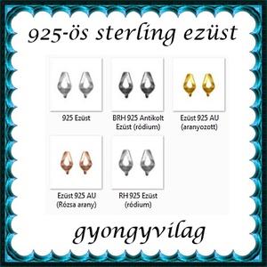 925-ös sterling ezüst ékszerkellék: fülbevalóalap bedugós EFK B 35 - gyöngy, ékszerkellék - egyéb alkatrész - Meska.hu