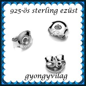 925-ös sterling ezüst ékszerkellék: fülbevalóalap bedugós EFK B 27-5,3 vég, Gyöngy, ékszerkellék, Egyéb alkatrész, Ékszerkészítés, Mindenmás, Szerelékek, EFK B 27-5,3 vég\n\n925-ös fémjellel ellátott valódi ezüst (bevizsgált) bedugós fülbevalóalap.A swarov..., Meska