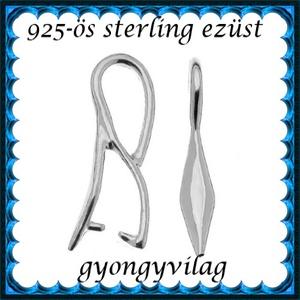 925-ös sterling ezüst ékszerkellék: medáltartó, medálkapocs EMK 78ag - Meska.hu