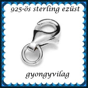 925-ös sterling ezüst ékszerkellék: lánckalocs  ELK 1S 19-11ag, Gyöngy, ékszerkellék, Egyéb alkatrész, Ékszerkészítés, Gyöngy, ELK 1S 19-11ag 925-ös fémjellel ellátott valódi ezüst (bevizsgált) 1 soros lánckapocs, delfinkapocs..., Alkotók boltja