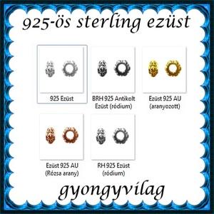 925-ös sterling ezüst ékszerkellék: köztes / gyöngy / dísz EKÖ 65 - gyöngy, ékszerkellék - fém köztesek - Meska.hu