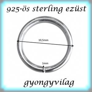 925-ös ezüst szerelőkarika nyitott ESZK NY 6  x 0,6 mm-es , Gyöngy, ékszerkellék, Egyéb alkatrész, Ékszerkészítés, Gyöngy, 925-ös valódi ezüst (bevizsgált) 6 mm átmérőjű 0,6 mm drótvastagságú ezüst nyitott szerelőkarika.  ..., Alkotók boltja