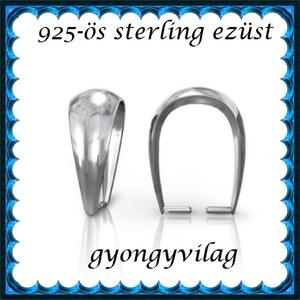 925-ös sterling ezüst ékszerkellék: medáltartó, medálkapocs EMK 77-7AG, Gyöngy, ékszerkellék, Egyéb alkatrész,  EMK 77-7AG   925-ös ezüst medálkapocs.  A méreteket a fotón láthatod  1db/csomag   Ezt a medálkapcs..., Meska