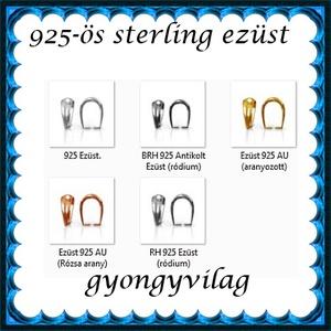 925-ös sterling ezüst ékszerkellék: medáltartó, medálkapocs EMK 77-11AU Gold Filled - gyöngy, ékszerkellék - egyéb alkatrész - Meska.hu