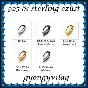 925-ös sterling ezüst ékszerkellék: medáltartó, medálkapocs EMK 81e - gyöngy, ékszerkellék - egyéb alkatrész - Meska.hu