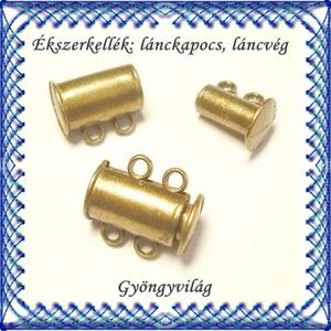 Ékszerkellék: lánckapocs BLK-2S-01 mágneses lánckapocs, Gyöngy, ékszerkellék, Egyéb alkatrész, Ékszerkészítés, Mindenmás, Szerelékek, Bronz, 2 soros mágneses lánckapocs.\n\n1db / csomag\n, Meska