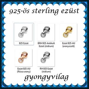 925-ös sterling ezüst ékszerkellék: lánckalocs ELK 1S 19-9e - gyöngy, ékszerkellék - swarovski kristályok - Meska.hu