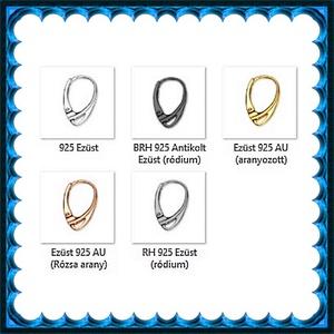 925-ös sterling ezüst ékszerkellék: fülbevalóalap biztonsági kapoccsal EFK K 14 - gyöngy, ékszerkellék - egyéb alkatrész - Meska.hu