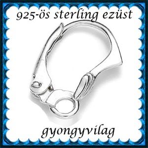 925-ös sterling ezüst ékszerkellék: fülbevalóalap biztonsági kapoccsal EFK K 21 - gyöngy, ékszerkellék - egyéb alkatrész - Meska.hu