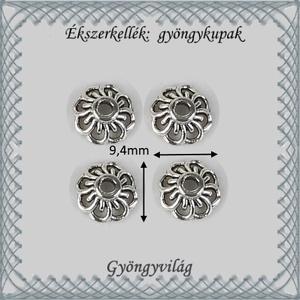 Ékszerkellék: gyöngykupak BGYK26 9,4mm-es 8db/csomag - Meska.hu