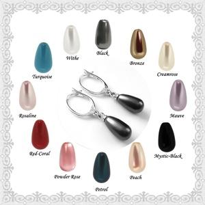 Fülbevalók: Swarovski félig fúrt csepp 925-ös sterling ezüst SFE-SW07-5-11 11mm-es több színben, Ékszer, Lógó fülbevaló, Fülbevaló, Ékszerkészítés, Gyöngyfűzés, gyöngyhímzés, Meska