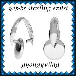 Medálok: Swarovski karika 925-ös sterling ezüst SME-SW KAR01 14mm-es Golden Shadow - ékszer - nyaklánc - medál - Meska.hu