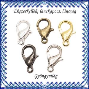 Ékszerkellék: lánckapocs BLK-1S-01-14 delfinkapocs több színben 14mm-es, Gyöngy, ékszerkellék, Egyéb alkatrész, Ékszerkészítés, Mindenmás, Szerelékek, BLK-1S-01-14   Az ár 10db kapocsra vonatkozik.  A 10db-ot különböző színekből is összeválogathatod...., Alkotók boltja