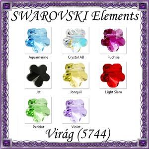 Ékszerkellék: Swarovski virág fűzhető 5mm-es több színben, Gyöngy, ékszerkellék, Swarovski kristályok, Ékszerkészítés, Gyöngy, SWAROVSKI KRISTÁLY\n\nFŰZHETŐ VIRÁG\n\nTÖBB SZÍNBEN !\n\nMéret:5mm\n\nAz ár egy darabra vonatkozik!\n\n\nA szín..., Meska
