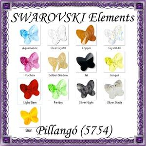 Ékszerkellék: Swarovski pillangó fűzhető 6mm több szín, Gyöngy, ékszerkellék, Swarovski kristályok, Ékszerkészítés, Gyöngy, SWAROVSKI KRISTÁLY HOSSZÁBAN FÚRT PILLANGÓ , TÖBB SZÍNBEN !\n\nMéret:6mm\n\nAz ár egy darabra vonatkozik..., Meska