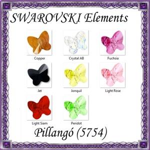 Ékszerkellék: Swarovski pillangó fűzhető 10mm több szín, Gyöngy, ékszerkellék, Swarovski kristályok, Ékszerkészítés, Gyöngy, Az ár egy darabra vonatkozik!\nSWAROVSKI KRISTÁLY HOSSZÁBAN FÚRT PILLANGÓ , TÖBB SZÍNBEN !\n\nMéret:10m..., Meska