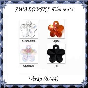 Ékszerkellék: Swarovski virág 18mm-es több színben, Gyöngy, ékszerkellék, Swarovski kristályok, Ékszerkészítés, Gyöngy, SWAROVSKI KRISTÁLY VIRÁG, TÖBB SZÍNBEN !\n\nMéret:18mm\n\nAz ár egy darabra vonatkozik!\n\n\n\nA pillanatnyi..., Meska