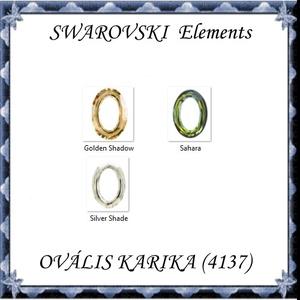 Ékszerkellék: Swarovski ovális karika  15mm-es több színben , Gyöngy, ékszerkellék, Swarovski kristályok, Ékszerkészítés, Gyöngy, Mindenmás, Eredeti swarovski kristály ovális karika medál .\n\nMéret: 15 mm\nSzín:több szín\n\n\nAz ár egy darabra vo..., Meska