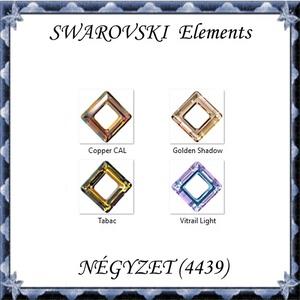 Ékszerkellék:  Swarovski négyzet 14mm  több színben , Gyöngy, ékszerkellék, Swarovski kristályok, Ékszerkészítés, Gyöngy, SWAROVSKI KRISTÁLY NÉGYZET  MEDÁL, TÖBB SZÍNBEN !\n\n\nMéret: 14 mm\nSzín:több szín\n\n\nAz ár egy darabra ..., Meska