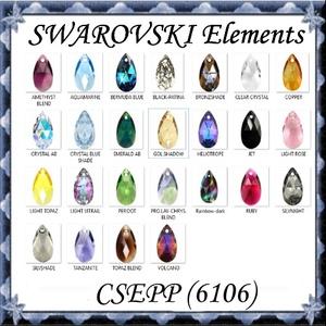Ékszerkellék: Swarovski csepp 16mm-es több színben SW6106-16 - gyöngy, ékszerkellék - swarovski kristályok - Meska.hu