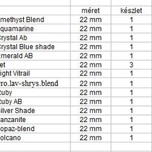Ékszerkellék: Swarovski csepp 22 mm-es több színben  - Meska.hu
